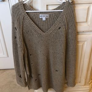 Wildfox Distressed Holey Sweater Size M
